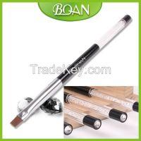 BQAN Crystal Series Black Acrylic Flat Nylon Hair Gel Brush Rhinestones