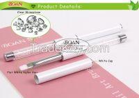 BQAN Clear Rhinestone White Metal Cap Nylon Hair Nail Art Brush