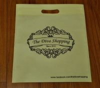 eco-friendly ulstrasonic non woven bag with die cut handle