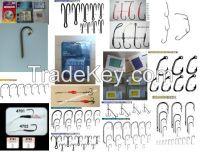 fishing hooks, treble hook, double hooks, jig hooks, worm hooks, baitholder hooks, crystal(long shank hooks), octopus hooks, o'shaughnessy hooks, aberdeen hook, kirby sea hooks, tuna hooks, circle hook