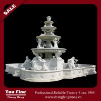 Garden large stone outdoor fountain