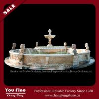 Statue decoration natural marble water fountain
