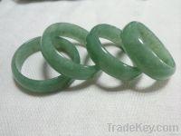 Natural aventurine wedding bangle green jade