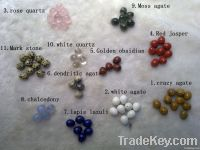 Natural semi-precious egg for earring with 13*15mm 1.5mm hole