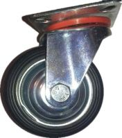 industrial rubber container caster wheels