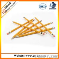 Wooden HB pencils with eraser, Promotional pencils for school