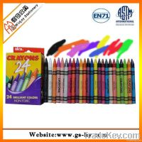 24 pcs wax crayons in a paper box, kids drawing set