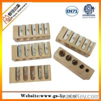 5 holes wooden sharpeners, high quality pencil sharpener