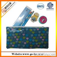 Stationery set in PVC bag with pencils