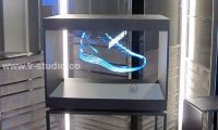 Hologram projection display cases by V-Studio