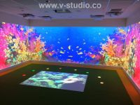 Interactive floor & wall projection by V-Studio