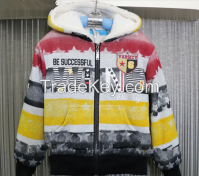 Fashionable child clothes colorful design printing hoody for boys