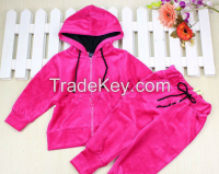 custom made quality children sport suit with hood