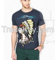 Wholesale custom fashion printing men t shirts casual slim fit shirts