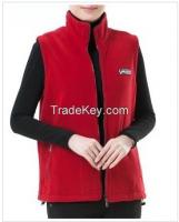 Unisex waistcoats single color warm up polar fleece vest waistcoats