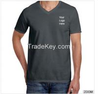 Slim Fit V-Neck Navy Blue Shortsleeve Tshirts custom printing