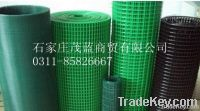 Coated electric welded meshes