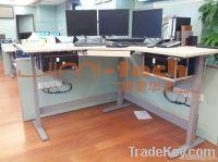 electric adjustable desk, lap legs
