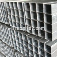 Made in China market factory mill exporter importer pre galvanized square and rectangular steel pipe GP hollow section