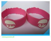 custom silicone wristband for promotion gift