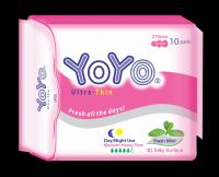 YOYO ULTRA THIN GOOD QUALITY SANITARY NAPKIN MADE IN VIETNAM