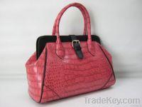 Croco PU leather satchel handbag