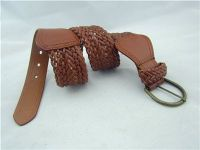 Fashion Faux Leather Vintage Wide Braided Stretch Belt For Women