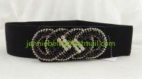 2015 Fashion Rhinestone Handmade Flower Elastic Belt For Women