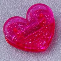 Plastic Heart Clips