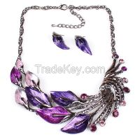 Vintage  necklace leaves short chain sweater  MD-1413