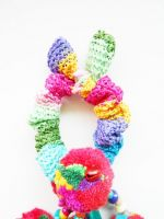 Colorful Ethnic Ponytail Tribal hair Accessory, Pom poms - Thailand Handmade. JH1001
