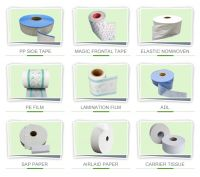 All raw materials for baby diaper