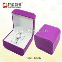 Pink PU watch box