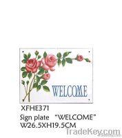 Vintage Enamel Sign Plate