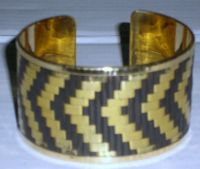 Brass Bangle Weaving of mat with finish two colour