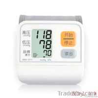 electronic digital arm type voice medical blood pressure monitor