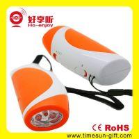 Hand-crank Flashlight with Alert