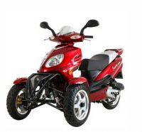 Trike Gas Motor Scooters 50cc 3 Wheels Moped