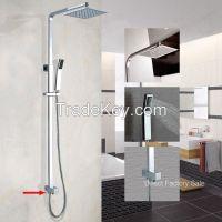 Bathroom 8'' Ultrathin Slim Square Handheld Shower Head Set 30% Water Savings