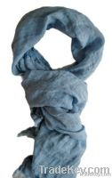 100% Linen Scarf All Natural Eco Beach Scarf and Throw Light Shawl