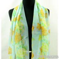 Cascades of Flowers Spring/ Summer Fashion Scarf for Celebrity