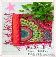Premium Silk Feel Voile Polyester Women Square Scarf