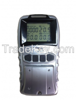HOTSALE!3.7V rechargeable lithium battery operated portable multi gas detector for CO O2 H2S CH4/LEL