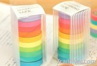 New cute color rainbow style washi Tape / Decoration stationery Tape /