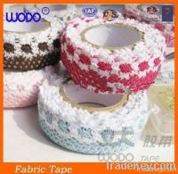 Colorful fabric lace tape