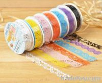 2013 hot sale fabric lace decorative tape for DIY and gift packing