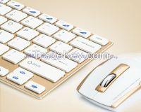 Very small size super slim wireless keyboard mouse set