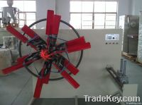 Plastic pipe winding machine