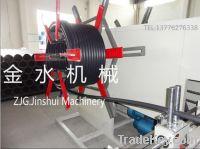 Plastic pipe winding machine