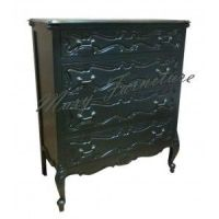FRENCH BLACK CHEST OF DRAWERS